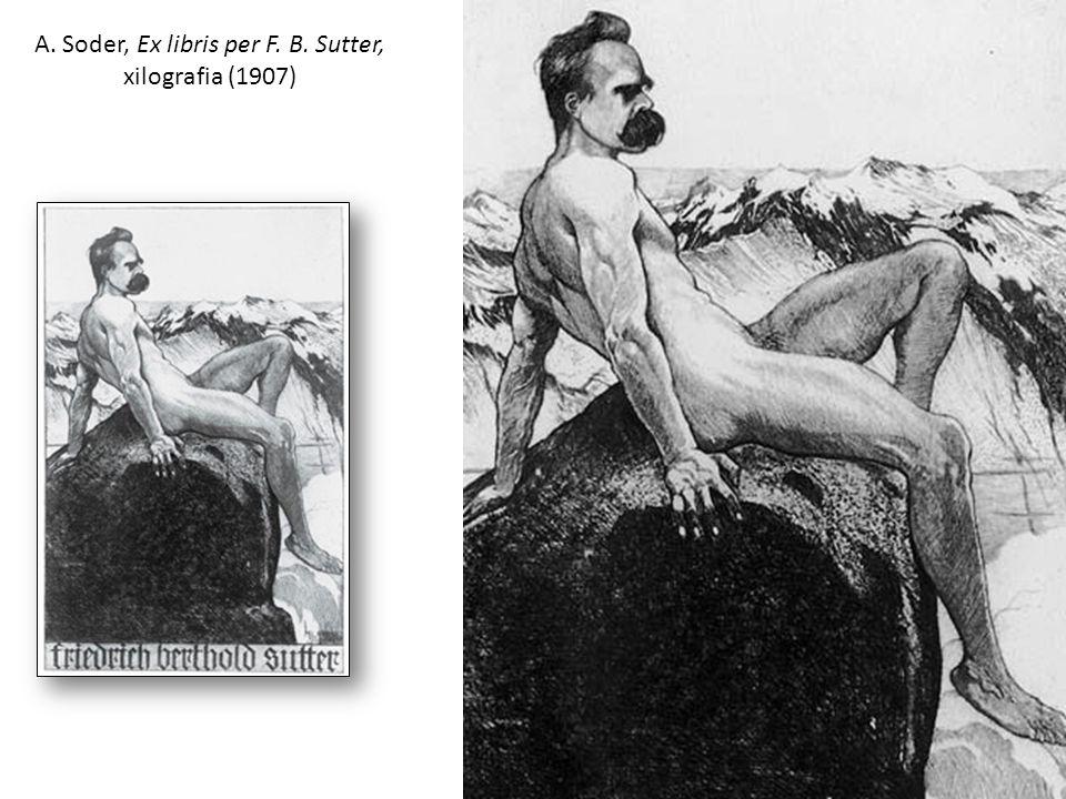 A. Soder, Ex libris per F. B. Sutter, xilografia (1907)