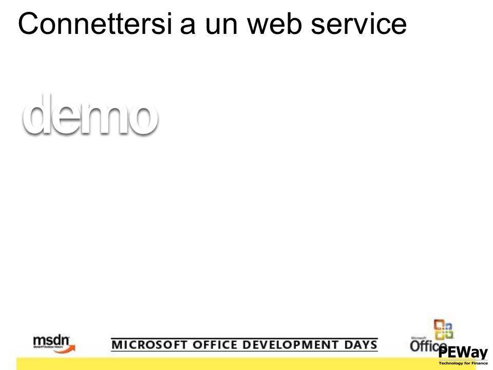 Connettersi a un web service