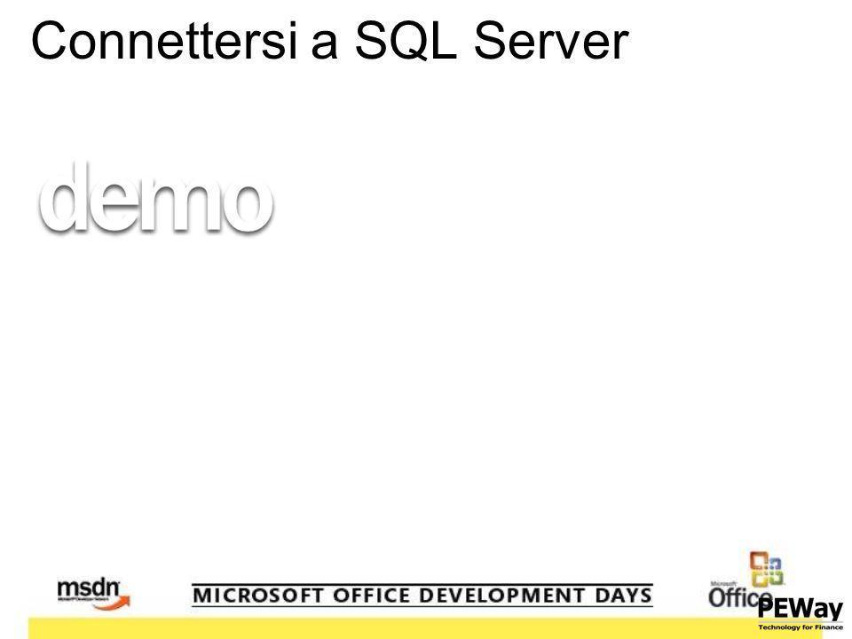 Connettersi a SQL Server