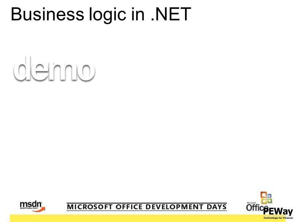 Business logic in.NET