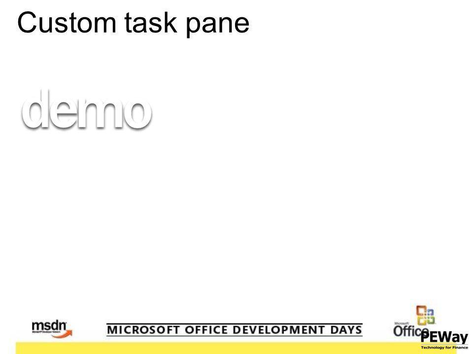 Custom task pane