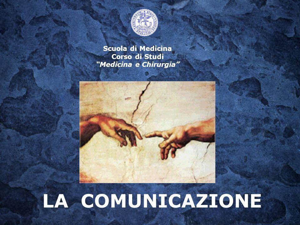 Scuola di Medicina Corso di Studi Medicina e Chirurgia LA COMUNICAZIONE