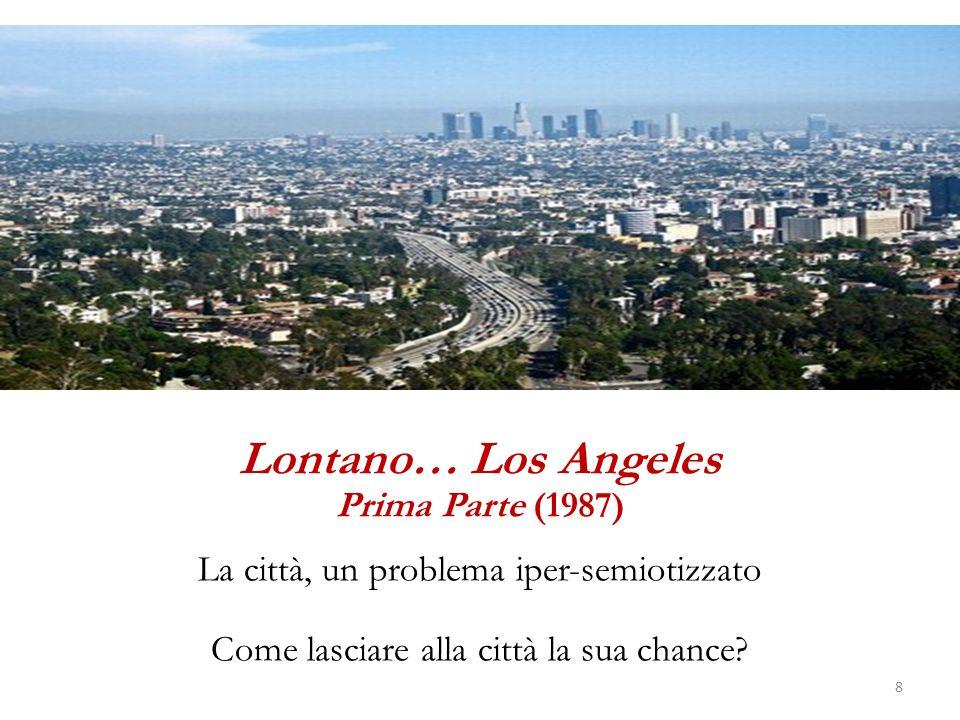 Una lontananza della città dalla città Non ci sono quartieri… Il quartiere è la città che vuole ricostituirsi e ripiegarsi allinterno della città.