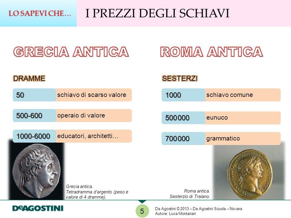 6 GLI SCHIAVI NELLA ROMA ANTICA Dal III secolo a.C.
