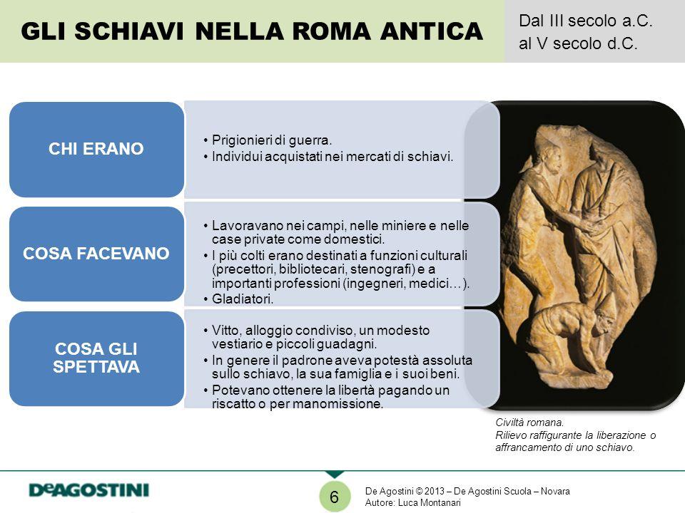 7 I PROTAGONISTI DELLA STORIA SPARTACO Dopo esser stato ridotto in schiavitù a causa della sua diserzione dallesercito romano fuggì nel 73 a.C.