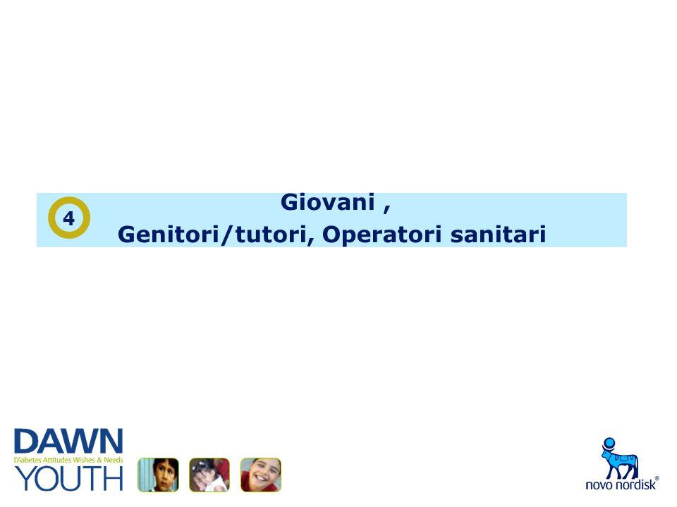 Giovani, Genitori/tutori, Operatori sanitari 4