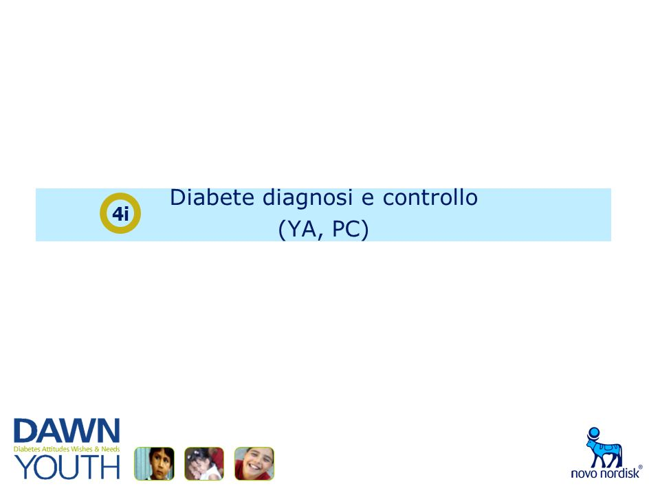 Diabete diagnosi e controllo (YA, PC) 4i