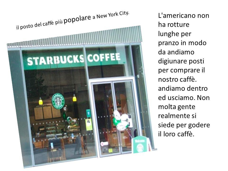 L americano non ha rotture lunghe per pranzo in modo da andiamo digiunare posti per comprare il nostro caffè.