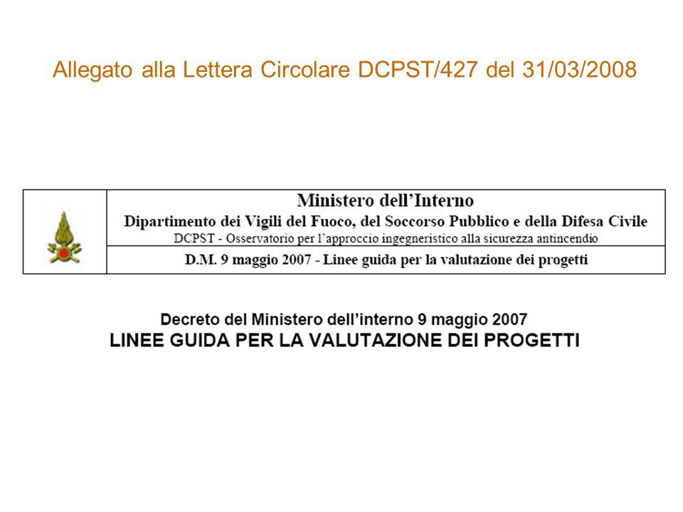 Allegato alla Lettera Circolare DCPST/427 del 31/03/2008