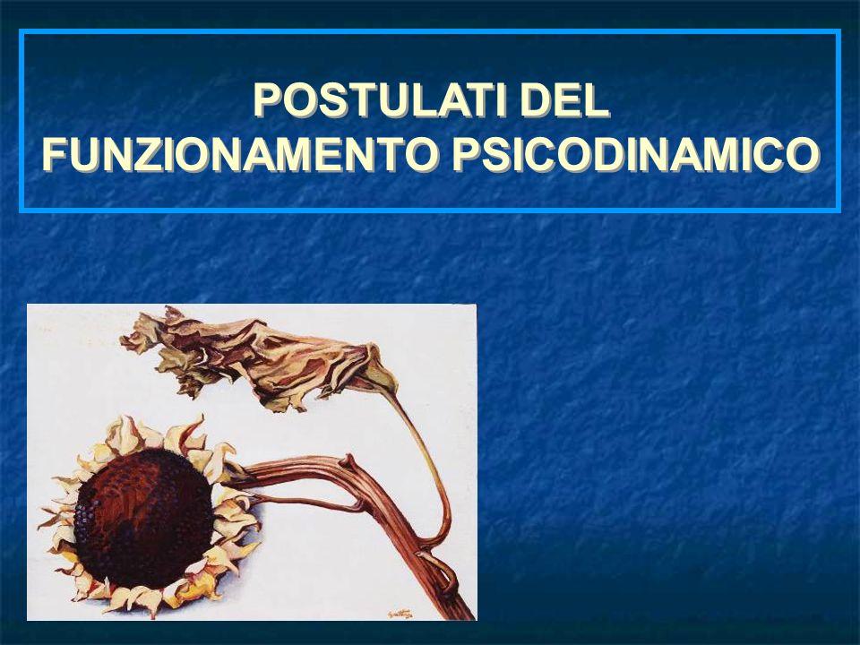 POSTULATI DEL FUNZIONAMENTO PSICODINAMICO POSTULATI DEL FUNZIONAMENTO PSICODINAMICO