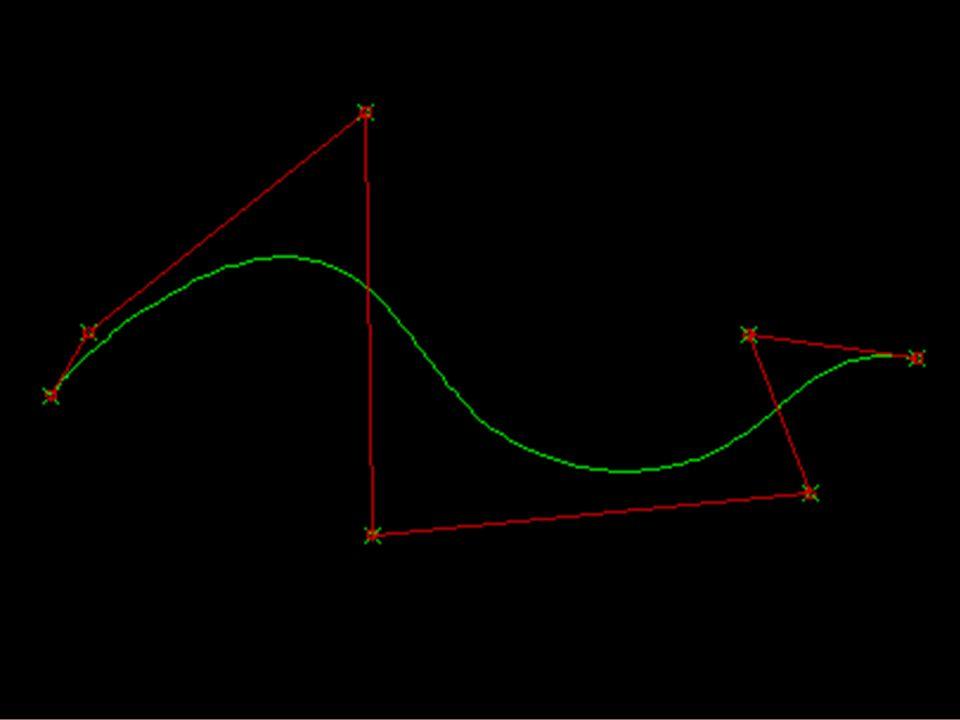 Da Bezier a NURBS (2) Dopo qualche anno di uso delle curve di Bezier ci si rese conto che erano troppo globali, ovvero che siccome modificando un punto si modificava tutta la curva, non si riuscivano ad ottenere modifiche locali.