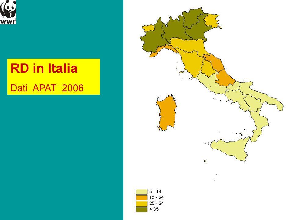 RD in Italia Dati APAT 2006