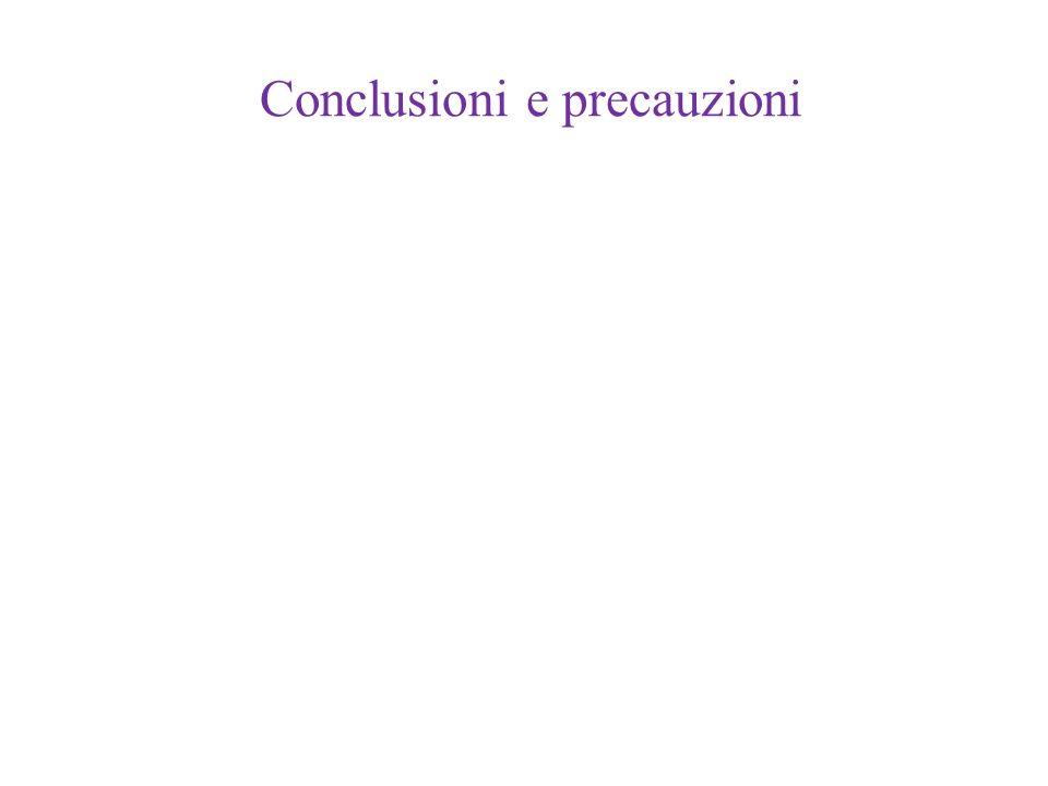 Conclusioni e precauzioni