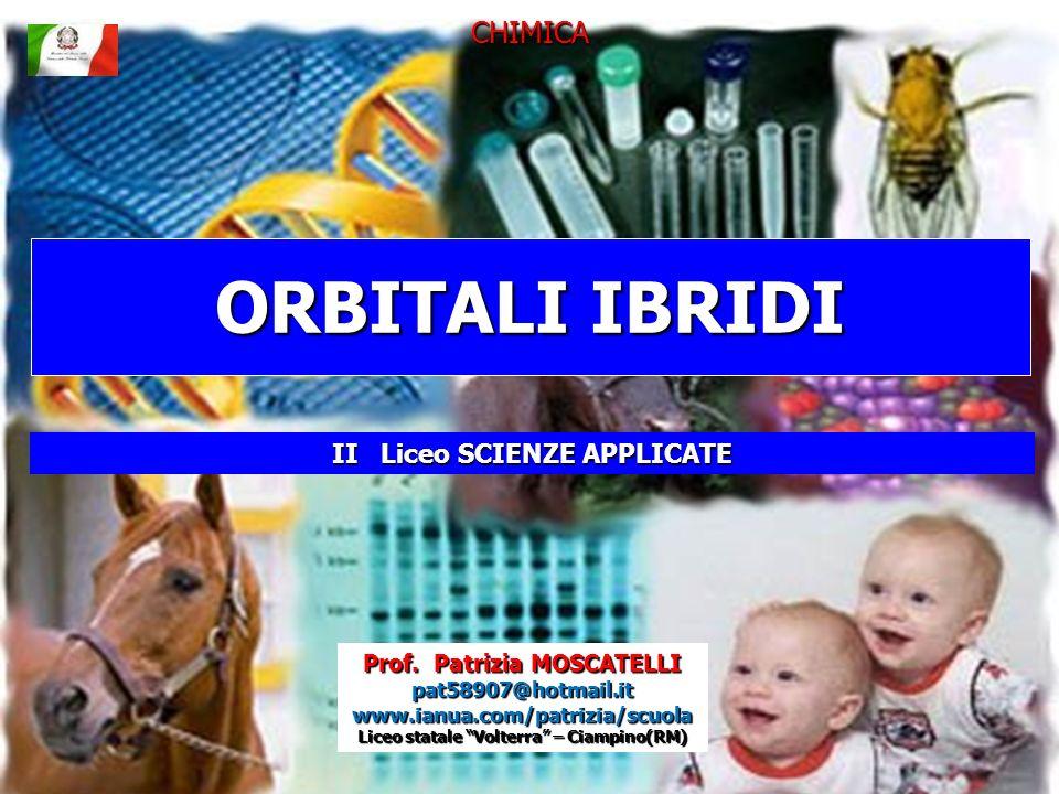 IBRIDAZIONE sp 2 L orbitale s ed i 2 orbitali p danno 3 orbitali ibridi, a energia e forma intermedia rispetto agli originali.