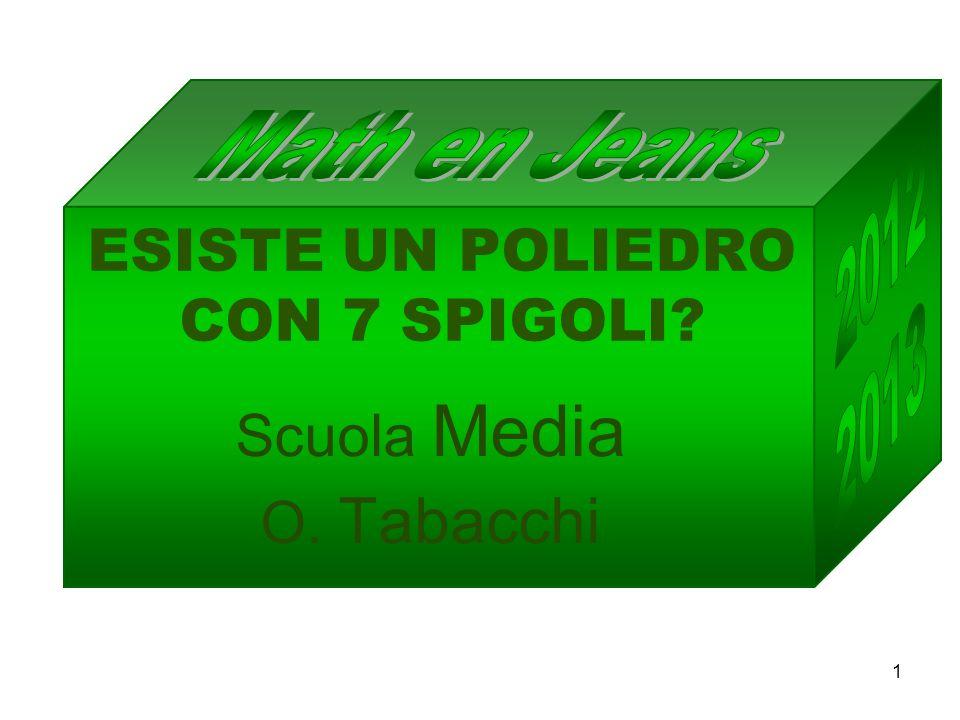 ESISTE UN POLIEDRO CON 7 SPIGOLI? Scuola Media O. Tabacchi 1