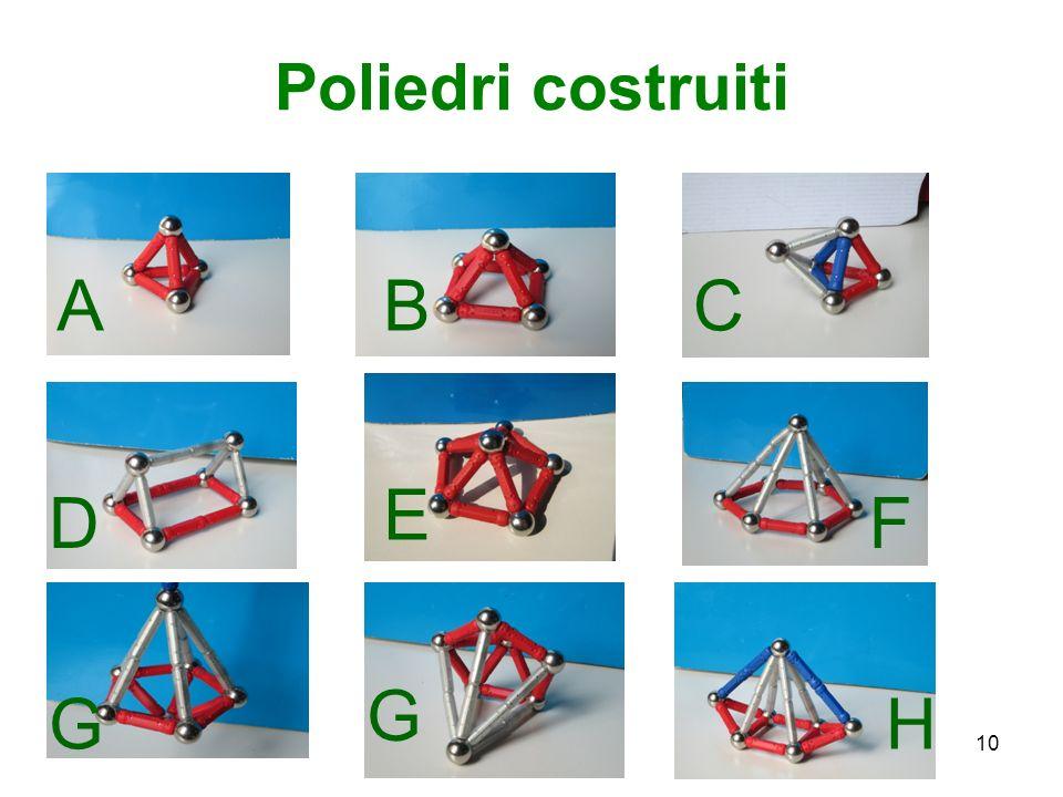 Poliedri costruiti ABC D E F HG G 10