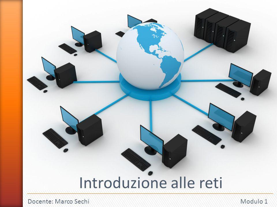 1 Docente: Marco Sechi Modulo 1 Introduzione alle reti