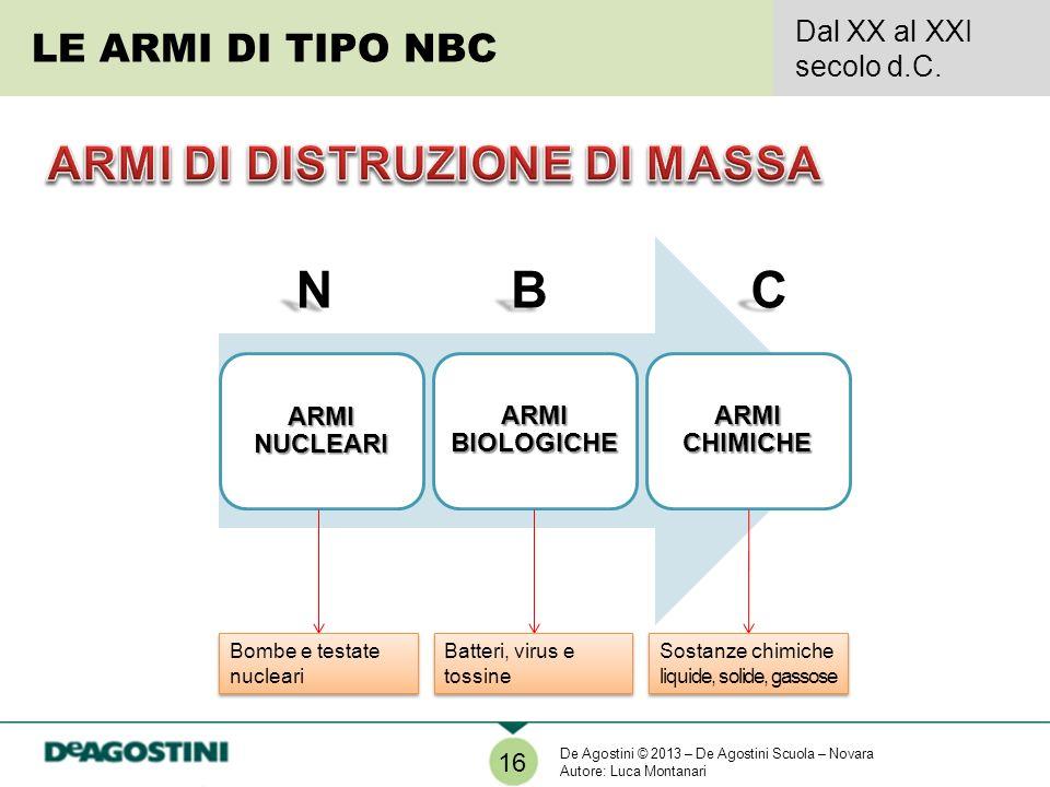 LE ARMI DI TIPO NBC Dal XX al XXI secolo d.C.