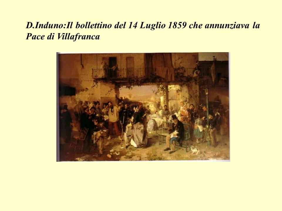 D.Induno:Il bollettino del 14 Luglio 1859 che annunziava la Pace di Villafranca