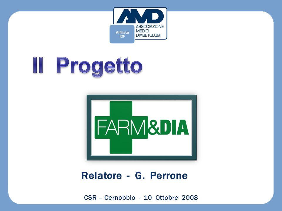 Relatore - G. Perrone CSR – Cernobbio - 10 Ottobre 2008
