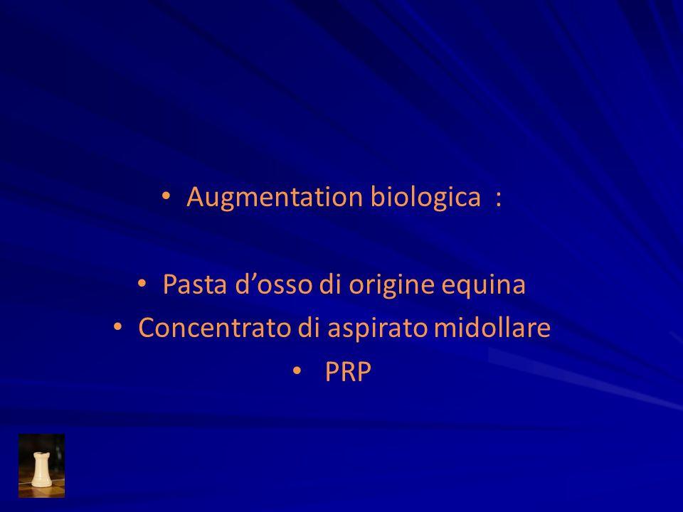 Augmentation biologica : Pasta dosso di origine equina Concentrato di aspirato midollare PRP