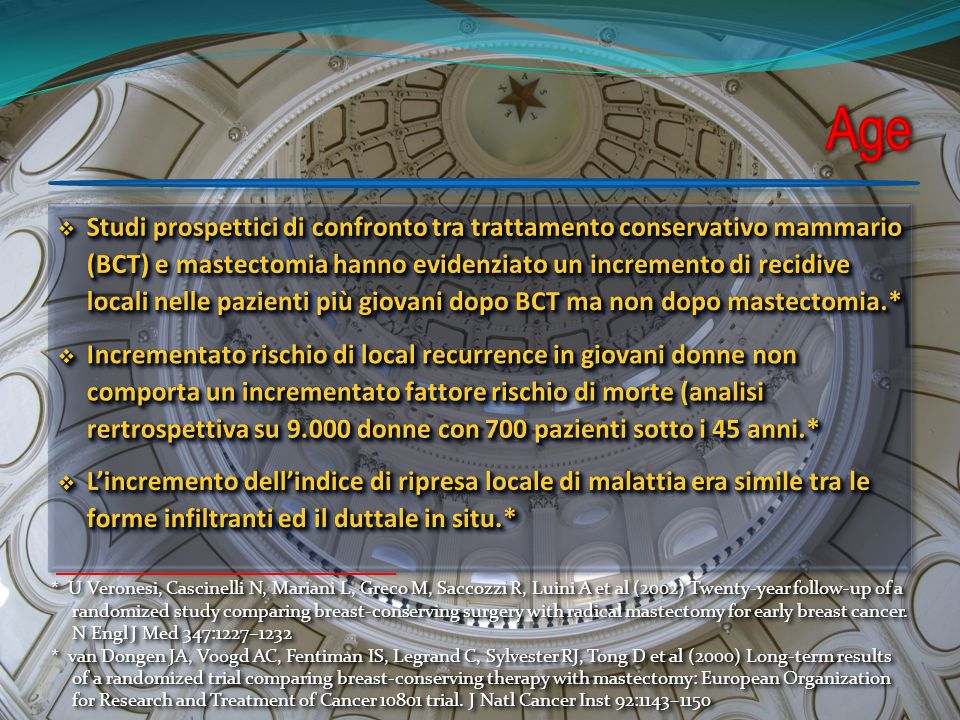 * U Veronesi, Cascinelli N, Mariani L, Greco M, Saccozzi R, Luini A et al (2002) Twenty-year follow-up of a randomized study comparing breast-conserving surgery with radical mastectomy for early breast cancer.