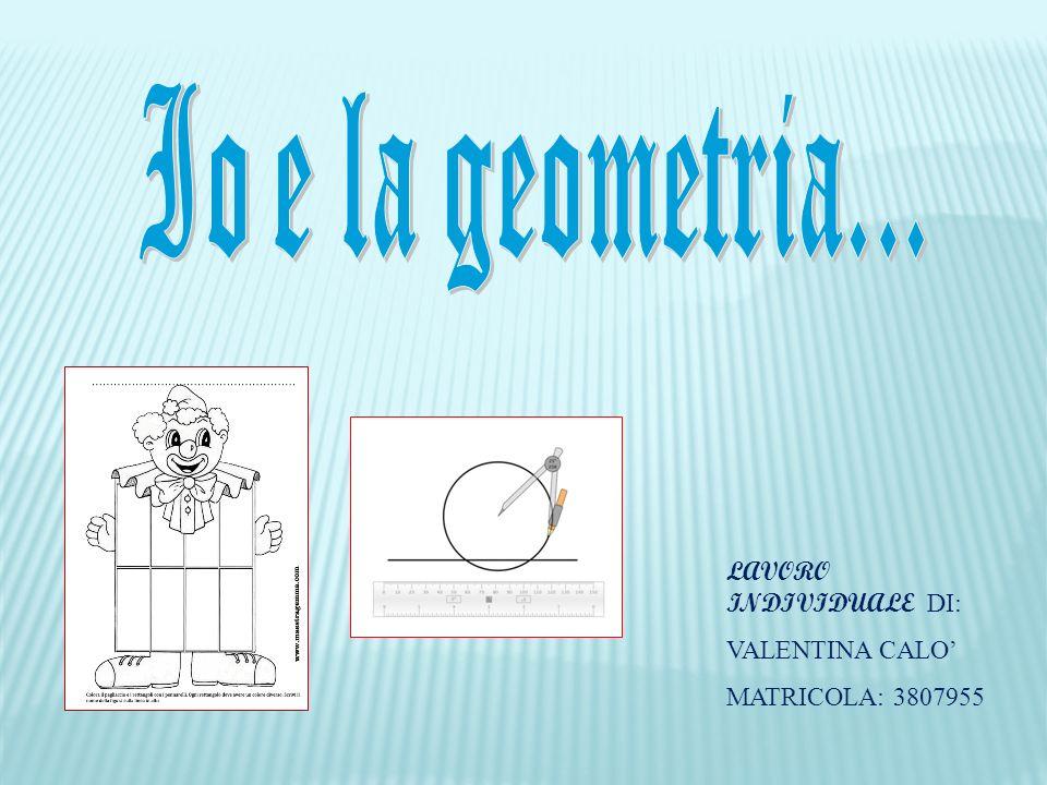LAVORO INDIVIDUALE DI: VALENTINA CALO MATRICOLA: 3807955