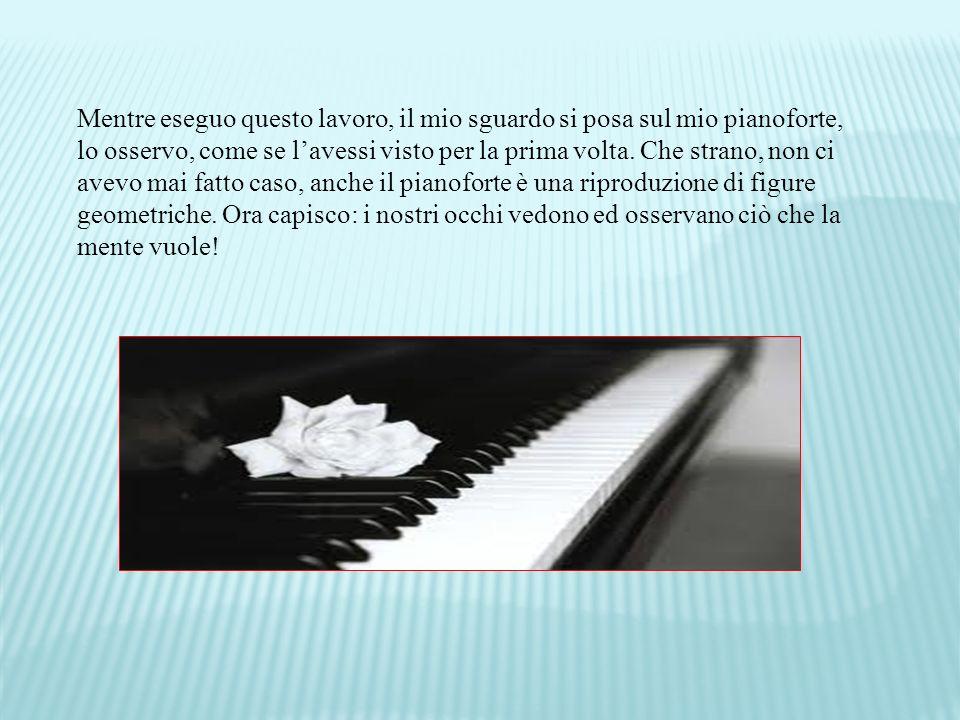 Mentre eseguo questo lavoro, il mio sguardo si posa sul mio pianoforte, lo osservo, come se lavessi visto per la prima volta.