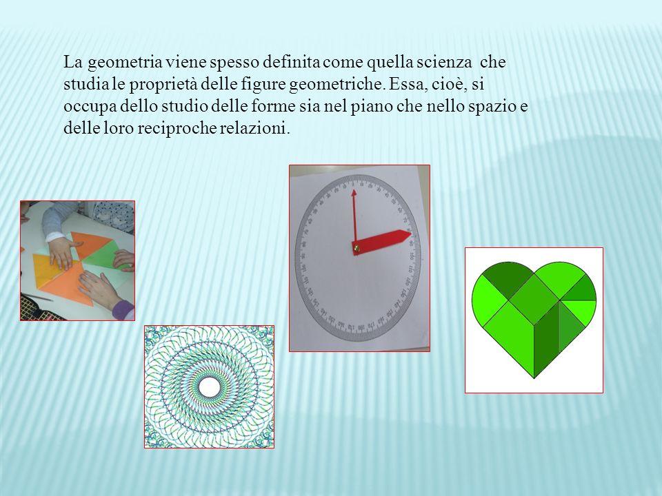 La geometria viene spesso definita come quella scienza che studia le proprietà delle figure geometriche.