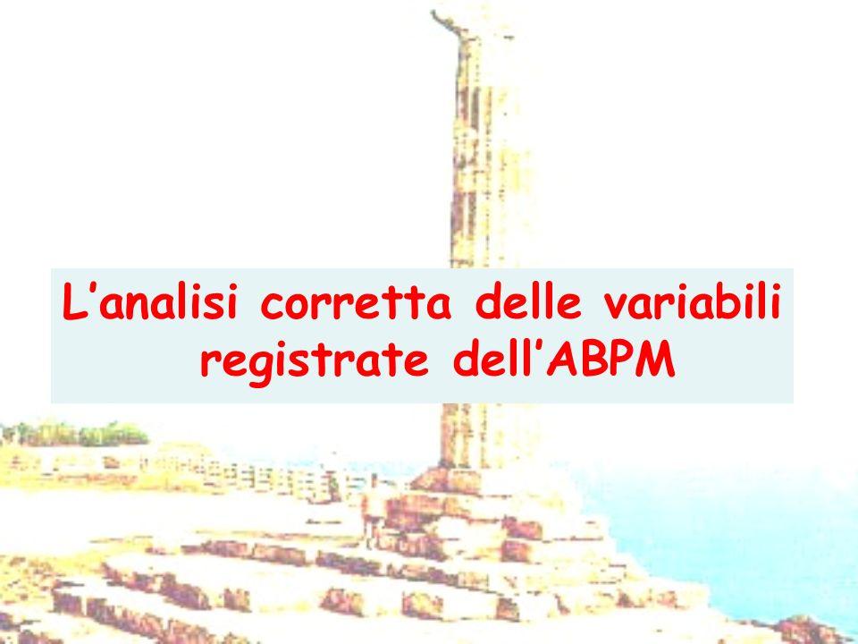 Lanalisi corretta delle variabili registrate dellABPM