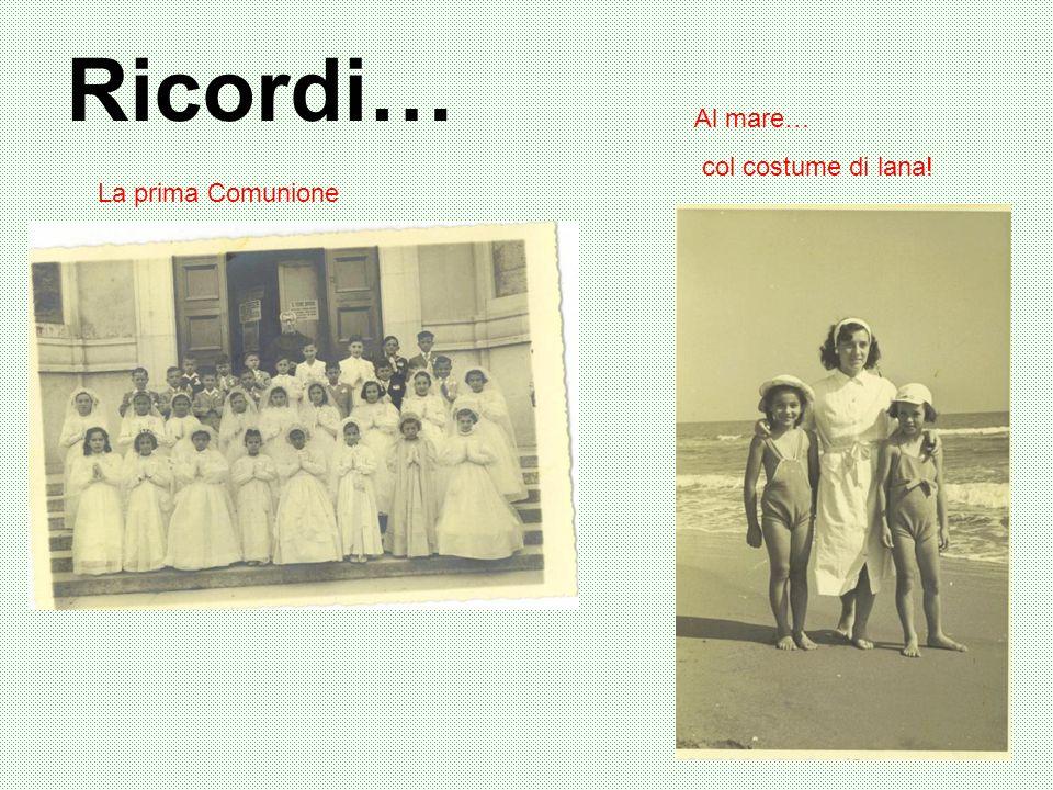 Ricordi… La prima Comunione Al mare… col costume di lana!