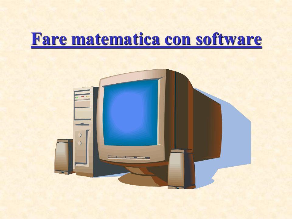 Fare matematica con software