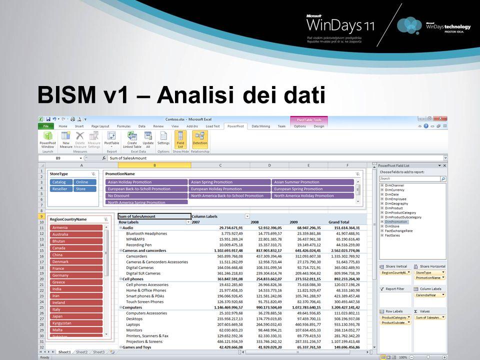 BISM v1 – Analisi dei dati