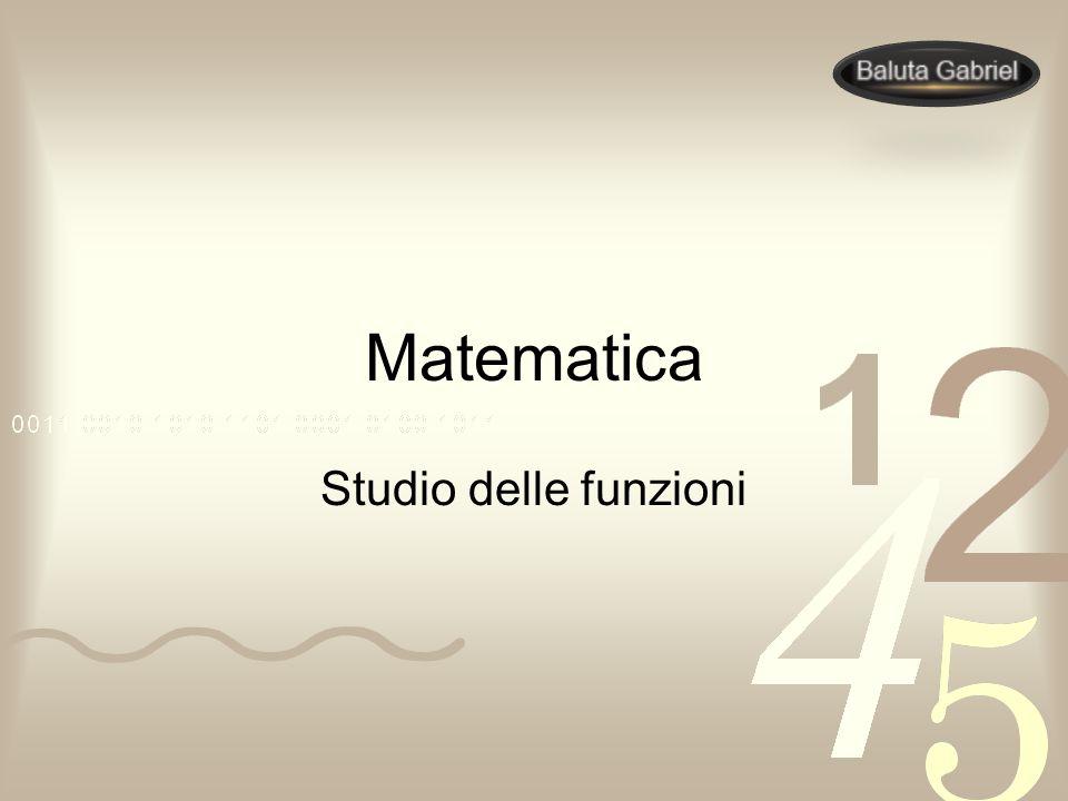 Matematica Studio delle funzioni
