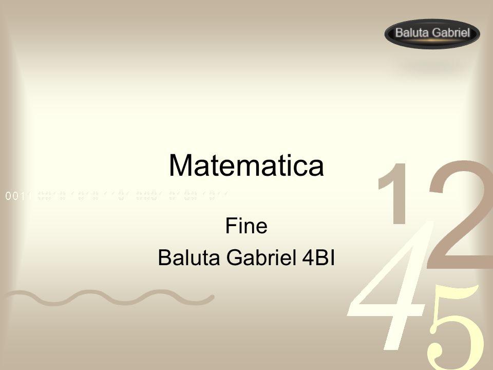Matematica Fine Baluta Gabriel 4BI