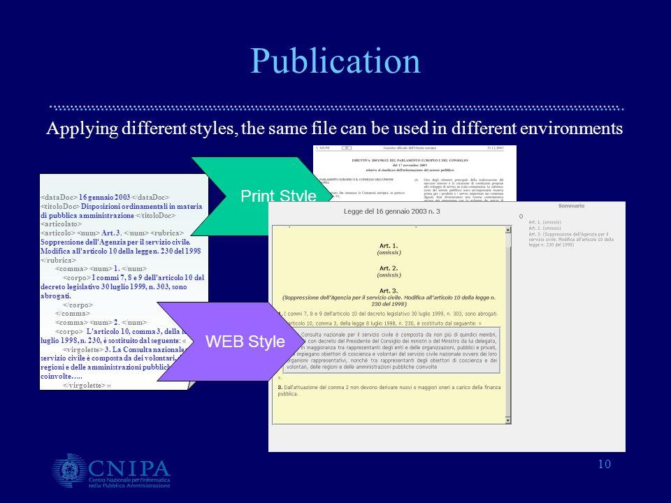 10 Publication 16 gennaio 2003 Disposizioni ordinamentali in materia di pubblica amministrazione Art.