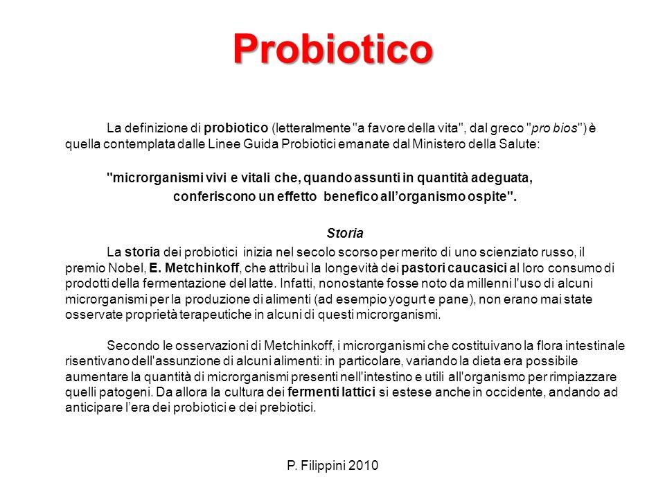 Probiotico Probiotico La definizione di probiotico (letteralmente