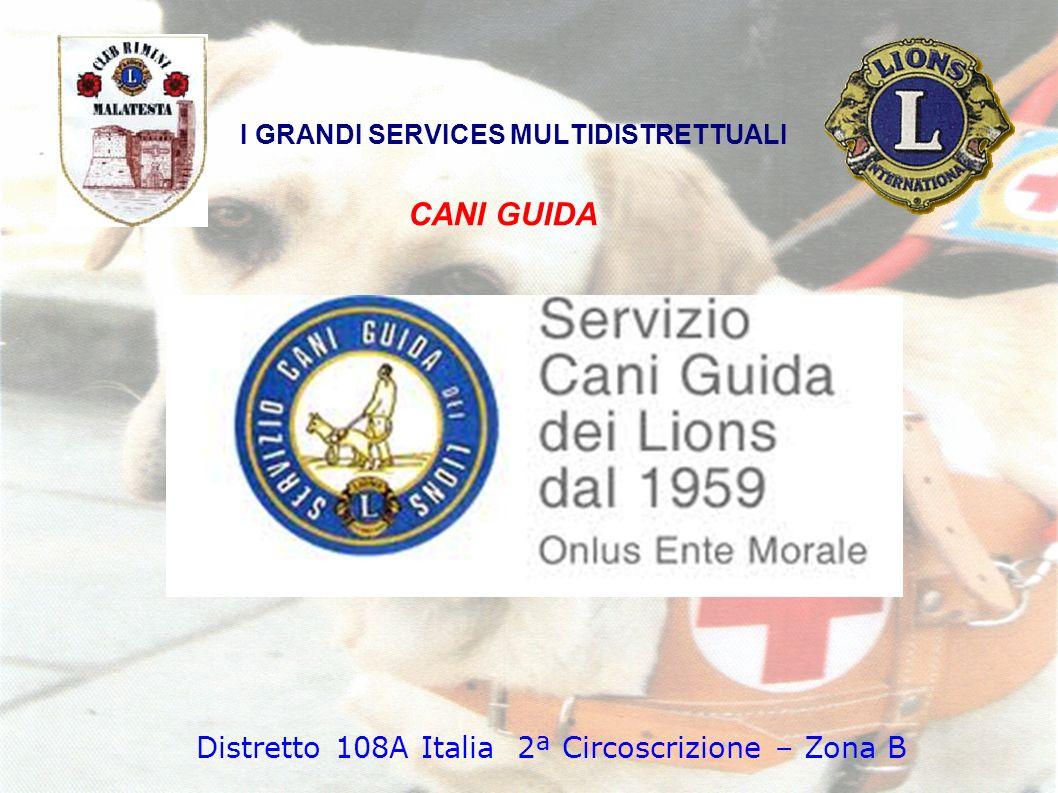 CANI GUIDA I GRANDI SERVICES MULTIDISTRETTUALI Distretto 108A Italia 2ª Circoscrizione – Zona B