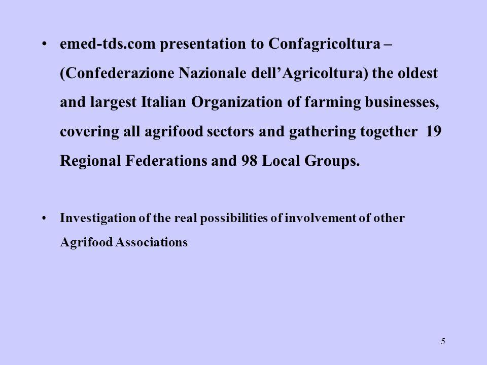 16 GOVERNMENTAL INSTITUTIONS DEALING WITH AGRIFOOD MINISTERO PER LE POLITICHE AGRICOLE E FORESTALI (MINISTRY FOR AGRICULTURE AND FORESTRY POLICIES) MINISTERO DEL COMMERCIO CON l ESTERO (MINISTRY OF FOREIGN TRADE) ISTITUTO PER IL COMMERCIO ESTERO - ICE ISTITUTO NAZIONALE ECONOMIA AGRARIA - INEA