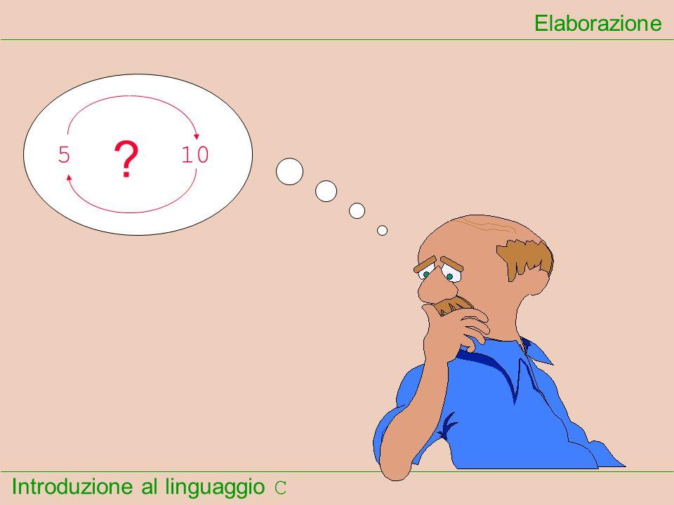 Introduzione al linguaggio C Elaborazione 510 ?