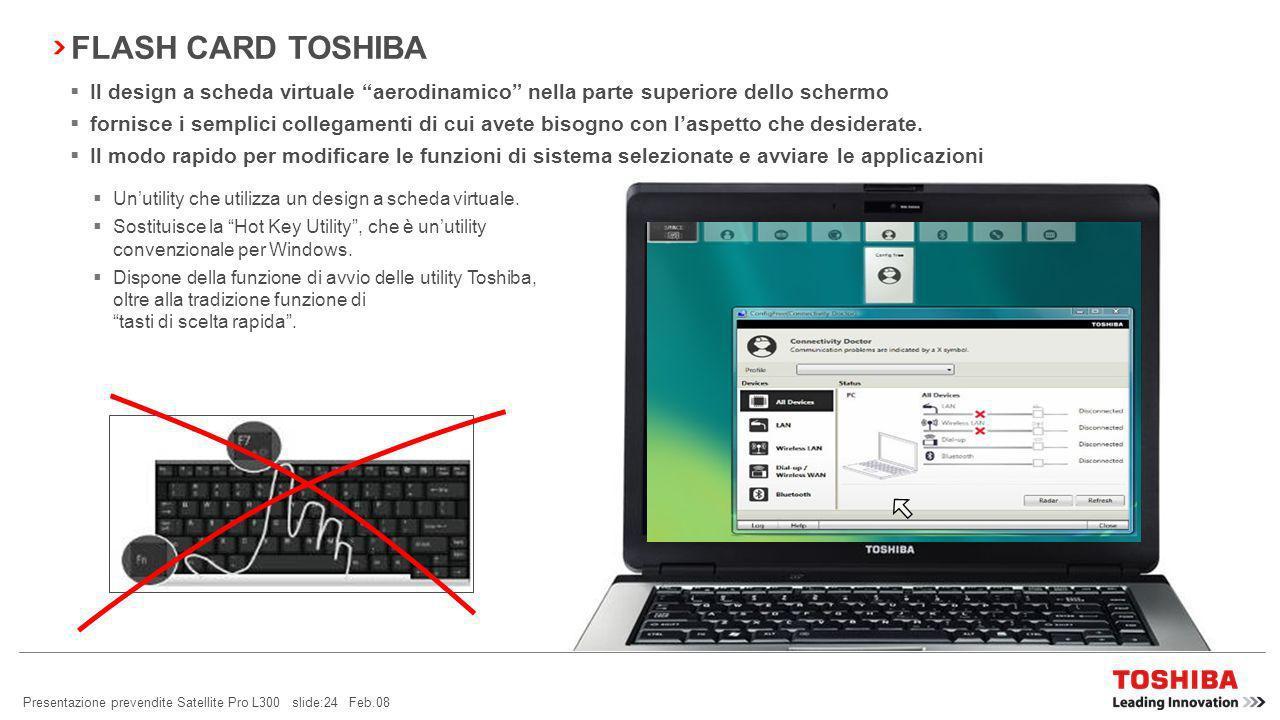 Presentazione prevendite Satellite Pro L300 slide:23 Feb.08 TOSHIBA DIVERSITY ANTENNA Cosè una Diversity Antenna.