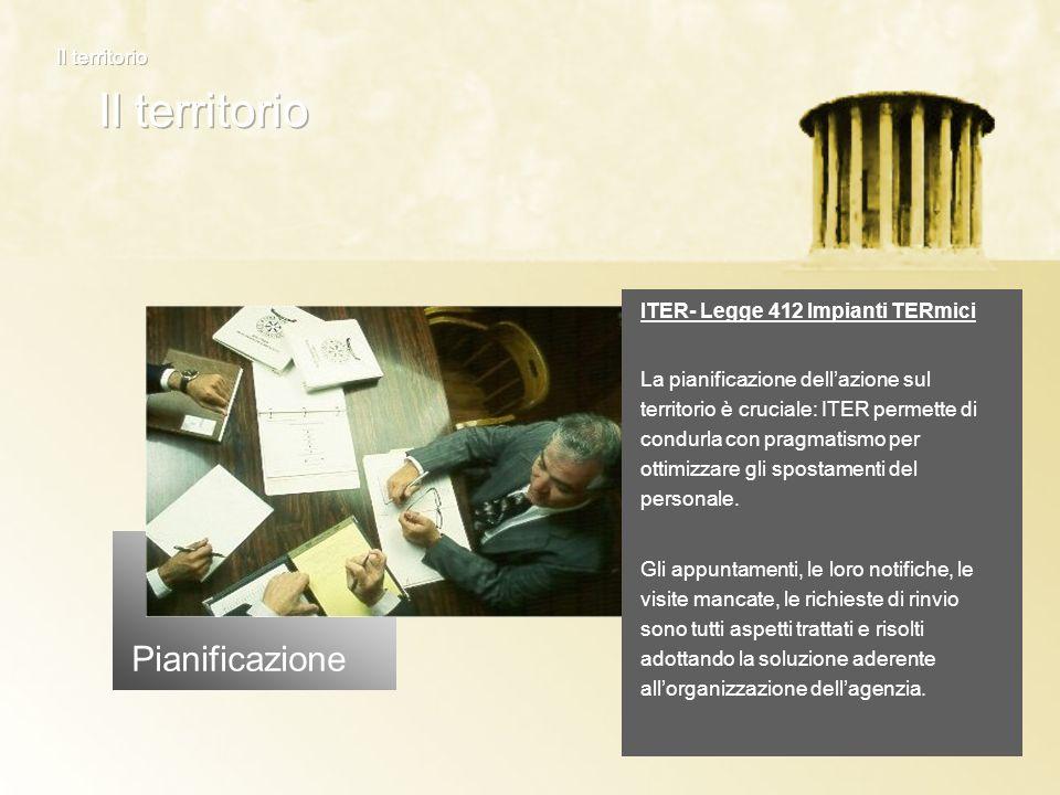 Pianificazione ITER- Legge 412 Impianti TERmici La pianificazione dellazione sul territorio è cruciale: ITER permette di condurla con pragmatismo per