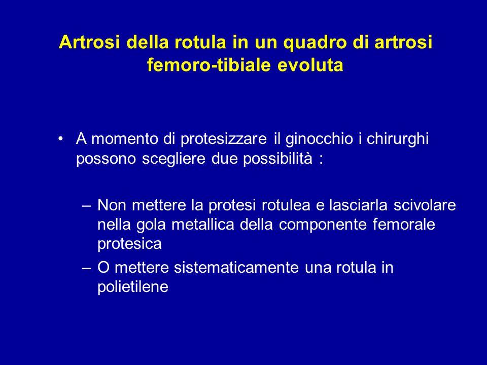 Artrosi della rotula in un quadro di artrosi femoro-tibiale evoluta A momento di protesizzare il ginocchio i chirurghi possono scegliere due possibili