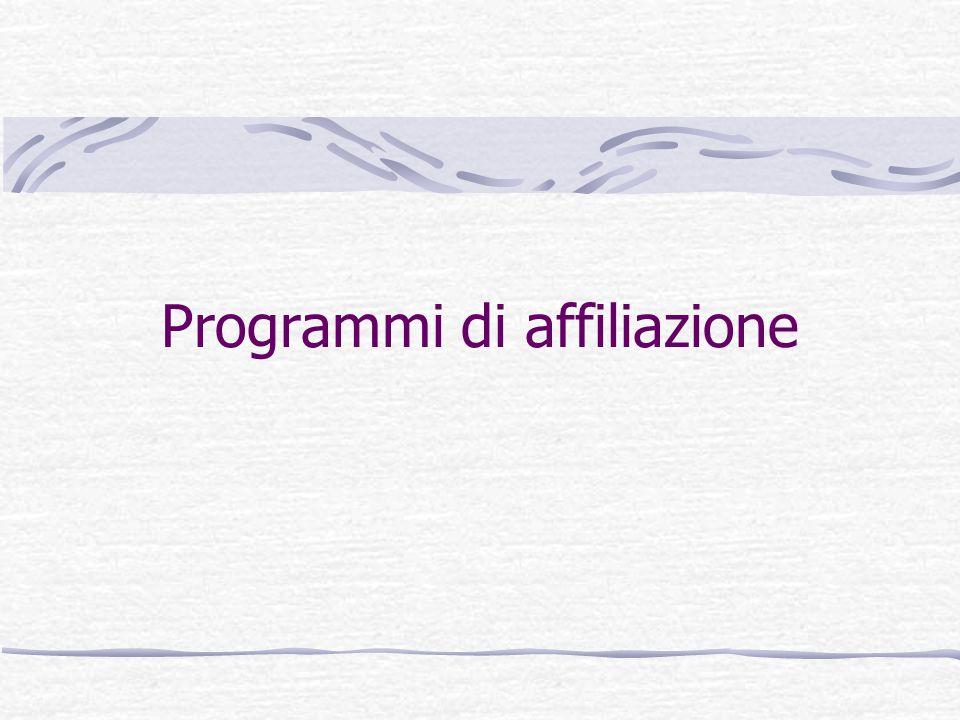 Programmi di affiliazione
