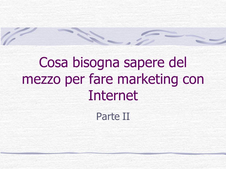 Cosa bisogna sapere del mezzo per fare marketing con Internet Parte II