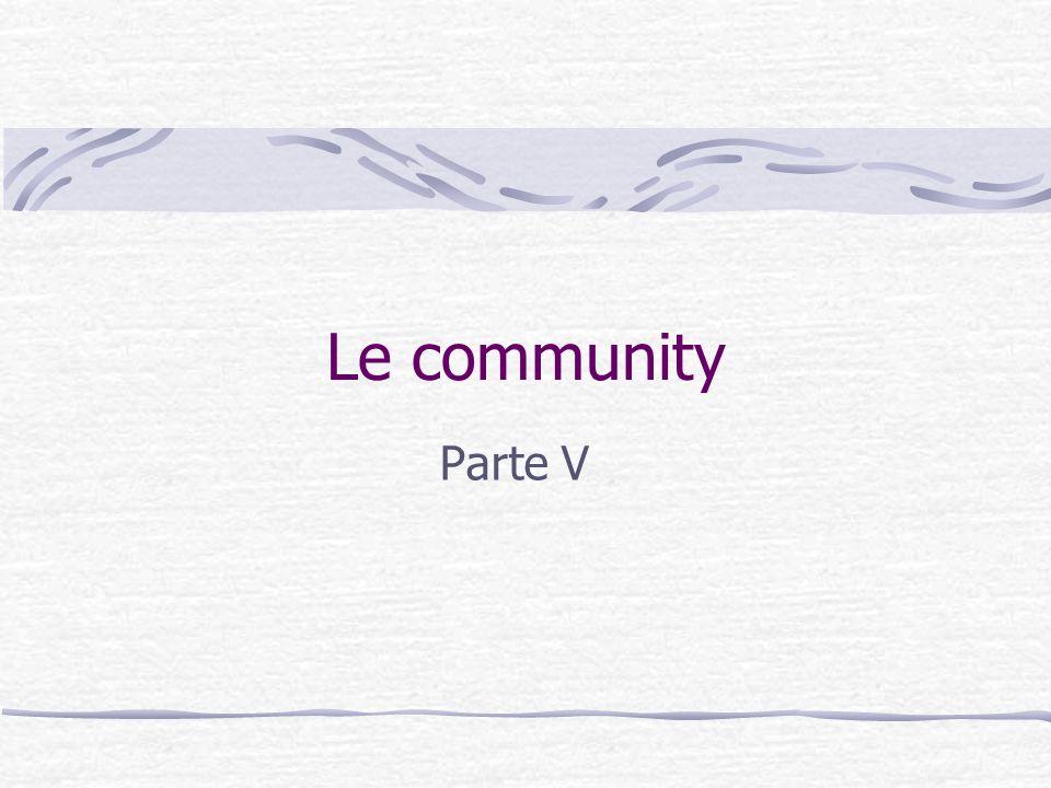Le community Parte V