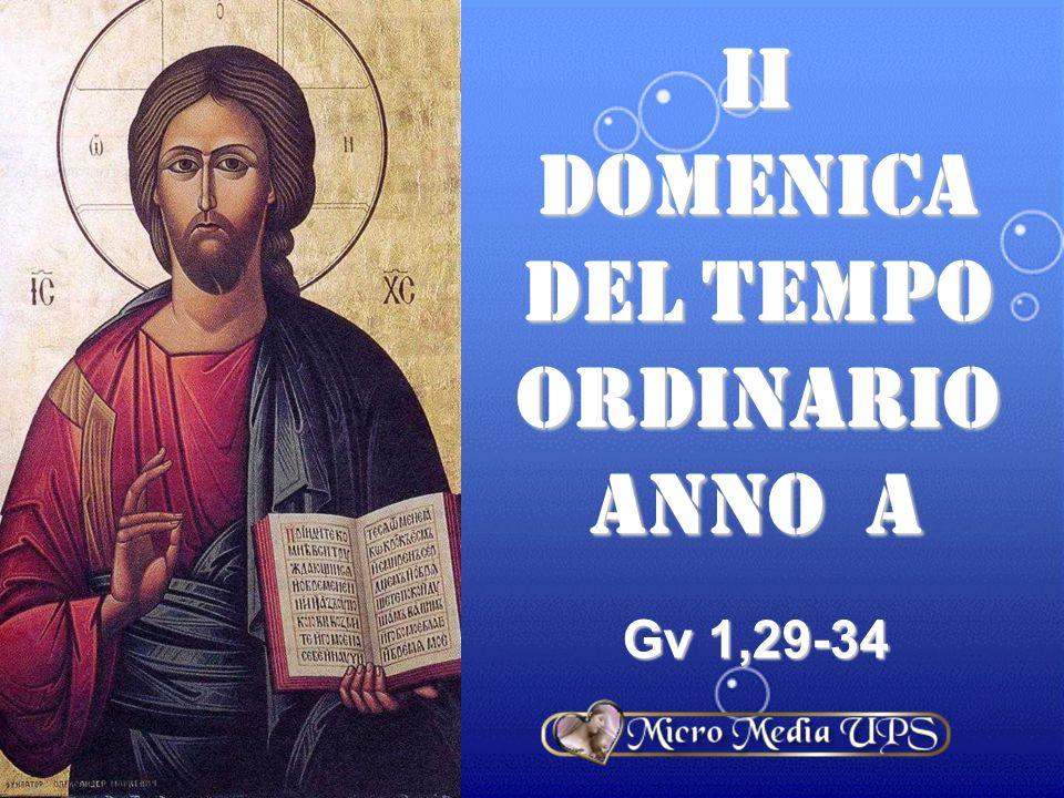 II DOMENICA DEL TEMPO ORDINARIO ANNO a Gv 1,29-34