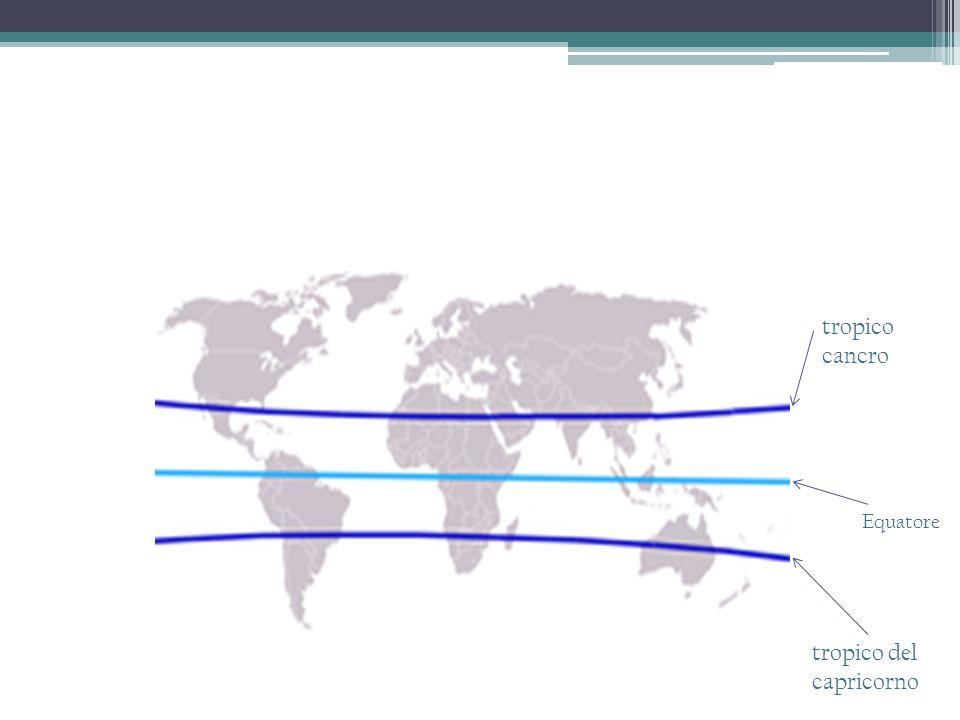 Equatore tropico cancro tropico del capricorno