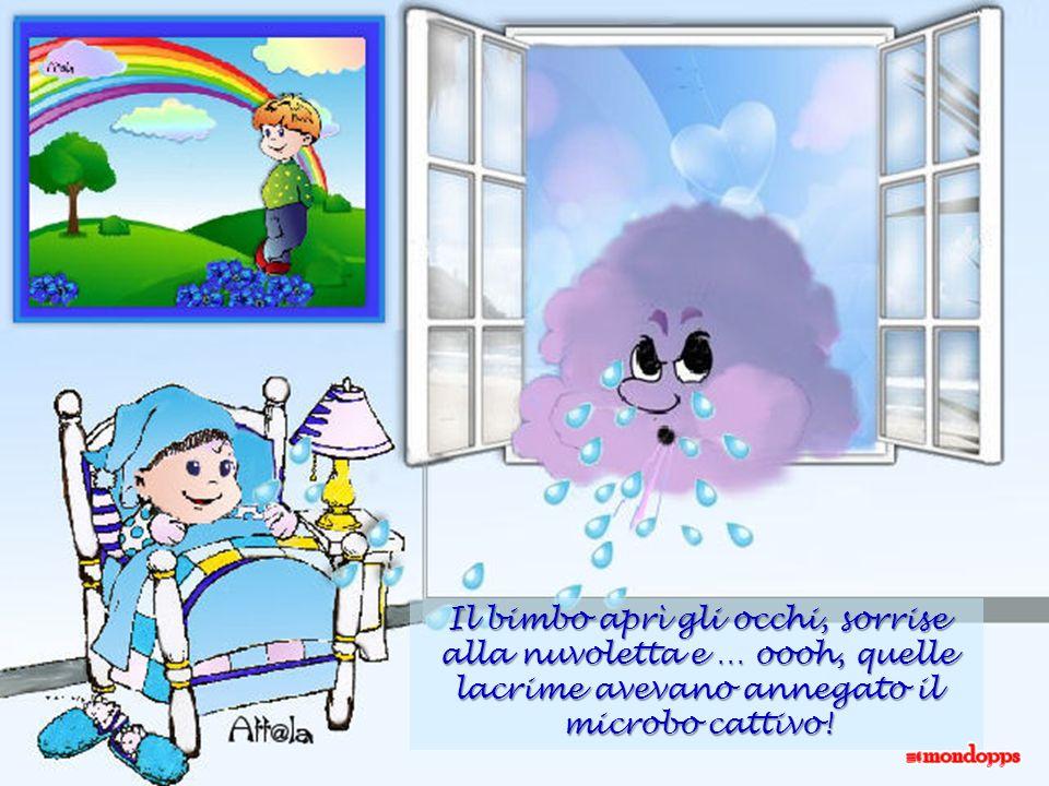 e cominciò a piangere e cominciò a piangere tutto il suo dolore: lacrime azzurre come gli anemoni caddero sul lettino …