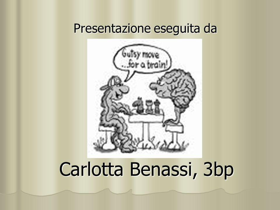 Carlotta Benassi, 3bp Presentazione eseguita da
